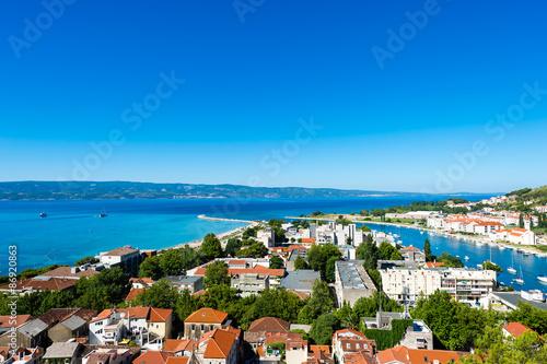 Poster Afrique du Sud Omis -old town in Dalmatia, Croatia.