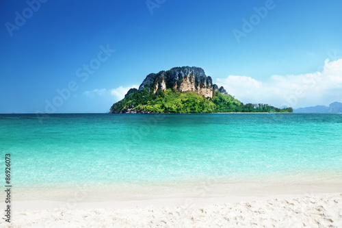 Poster Tropical plage Poda island, Krabi province, Thailand
