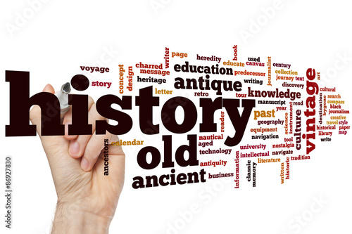 Foto  History word cloud