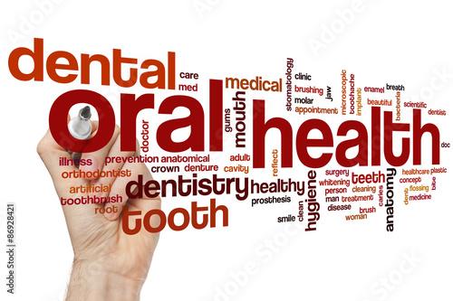 Fotografie, Obraz  Oral health word cloud