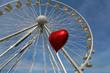 Riesenrad und Luftballon