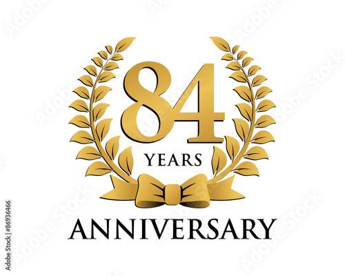 Fotografia  anniversary logo ribbon wreath 84
