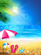 Summer holidays - relax to tropical beach