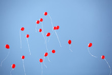 Many Red Balloons In The Sky