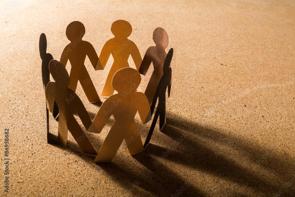 Fototapeta Community, Support, Multi-Ethnic Group.