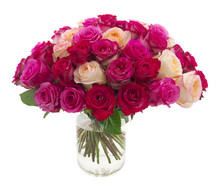 Many Roses In A Vase