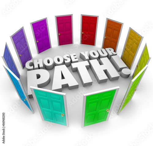 Choose Your Path Doors Directions Opportunities Career Job Poster