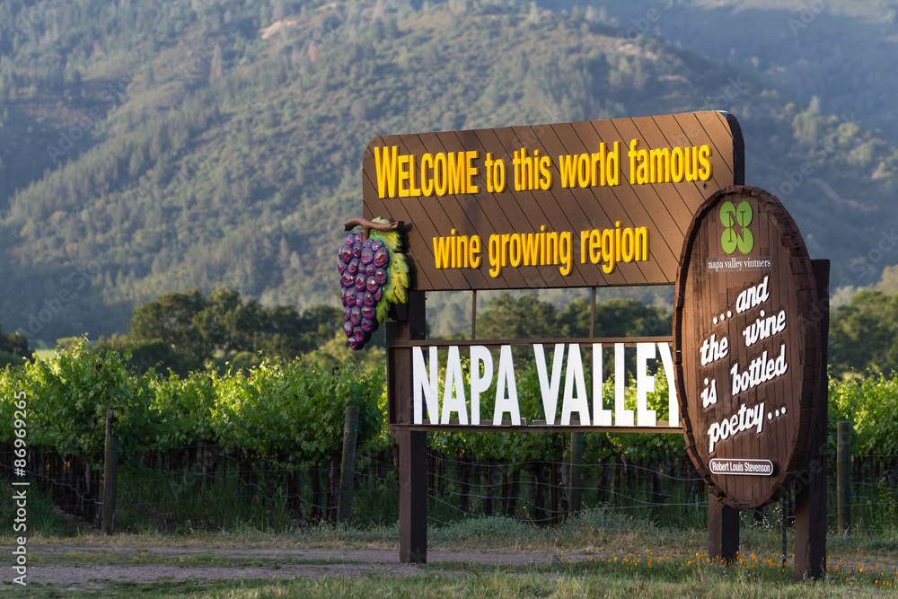Fototapety, obrazy: Napa Valley welcome sign