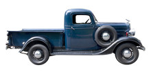 Blue Vintage Pickup Truck From...