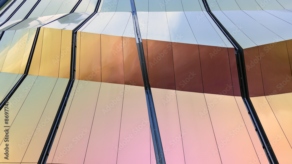 Fototapety, obrazy: Modern design facade Architecture material details