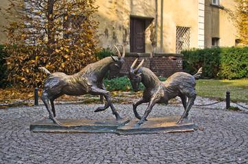 Goats - the symbol of Poznan, Poland