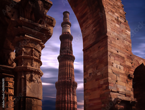 Fotografie, Obraz  Qutub Minar at New Delhi India