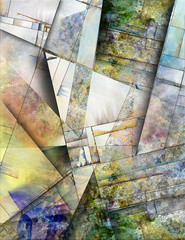 Panel Szklany Abstrakcja Abstract Angular