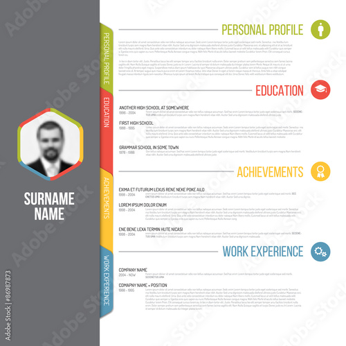 minimalistic cv resume template - Adobe Resume Template