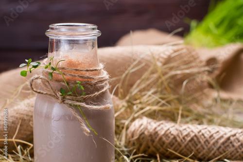 Foto op Aluminium Milkshake Chocolate milkshake.