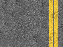 Asphalt With Double Yellow Lines