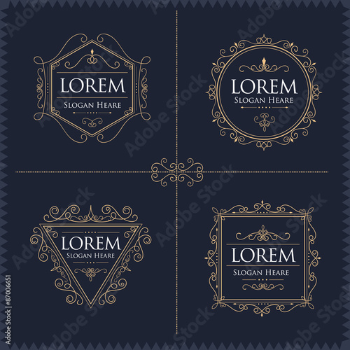 Fotografia, Obraz  Luxury Logos Set template flourishes calligraphic elegant