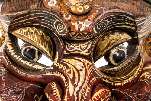 Staande foto Stained japanese traditional mask eyes