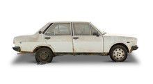 Old Car (Clipping Path Included)