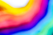 canvas print picture - rainbow spectrum blurred background