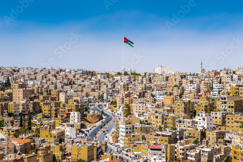 Panorama of the city of Amman, Jordan Canvas Print