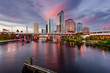 Tampa, Florida, USA Skyline on Hillsborough River