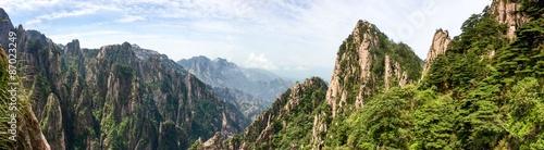 Fotobehang Pistache Huang Shan Gebirge in der Anhui Provinz
