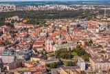 Fototapeta Miasto - Poznań, Starówka z lotu ptaka