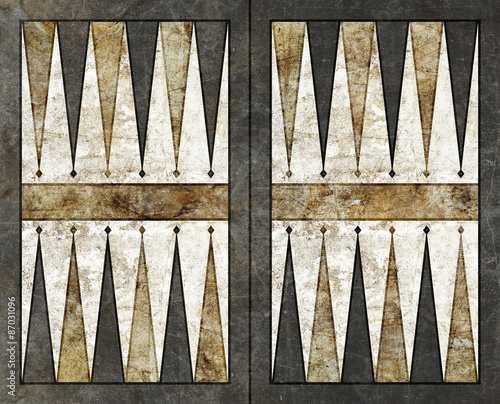 Obraz na plátne backgammon background empty board table