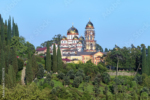 View of the New Athos Monastery (Novy Afon Monastery) with Cathedral of St Canvas-taulu