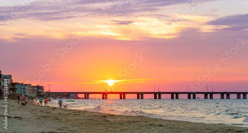 Valokuva  Sundown at the Beach