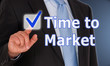 Time to Market - Businessman with checkbox