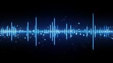 Audio Waveform Blue Equalizer
