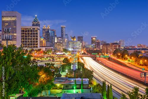 Foto op Canvas Texas Atlanta Skyline