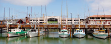 Panoramic View Of Fisherman Wharf San Francisco