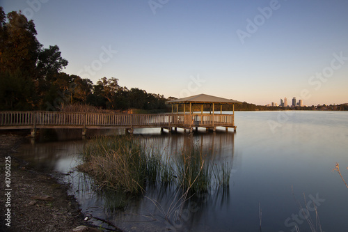 Canvas Print Lake Monger, Perth, Western Australia
