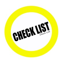 Check List Back Stamp Text On White