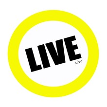 LIVE Back Stamp Text On White