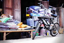 Old Vintage Bicycle In Chiang Khan, Loei Province, Thailand