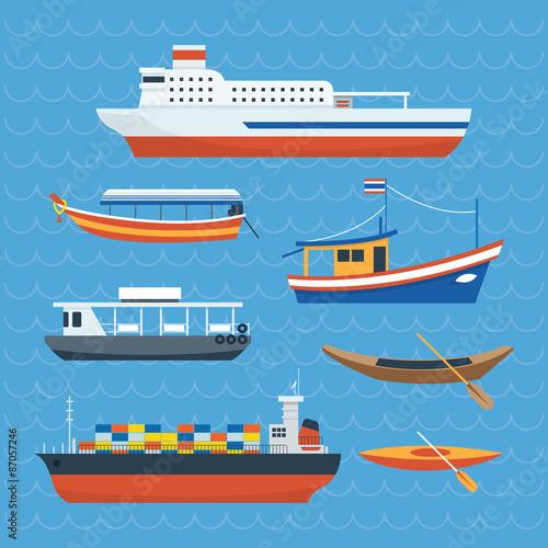 Fotografía  Various kind of Ship, Boat, Ferry