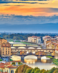 Fototapeta Rzym Bridges over Arno river in Florence