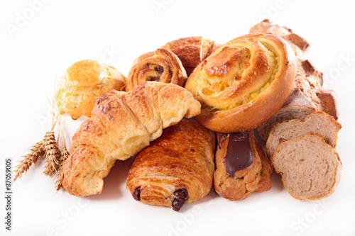 Photo assorted croissant