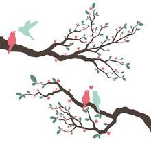 Wedding Invitation With Love Bird