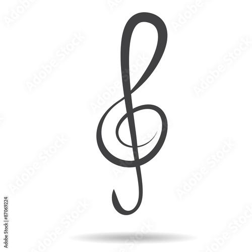 Violin Key Sign Vector Music Symbol Black Buy This Stock Vector