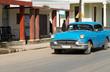 HDR Kuba amerikanische Oldtimer fahren auf der Straße