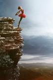 Ballet Dancer balansuje na skale - 87071865