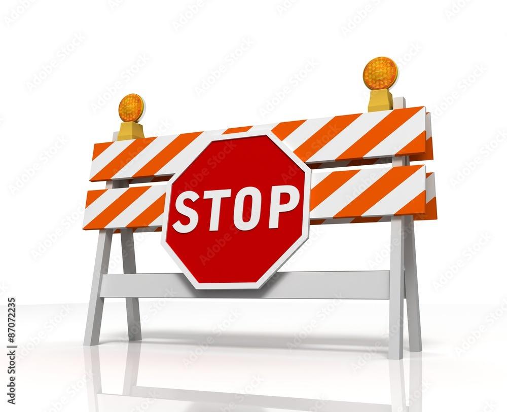 Fototapeta stop barrier