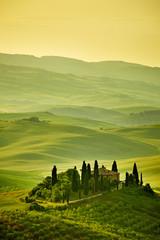 Panel Szklany Podświetlane Toskania Tuscany hills