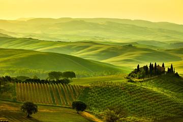 Panel Szklany Do gastronomi Tuscany hills