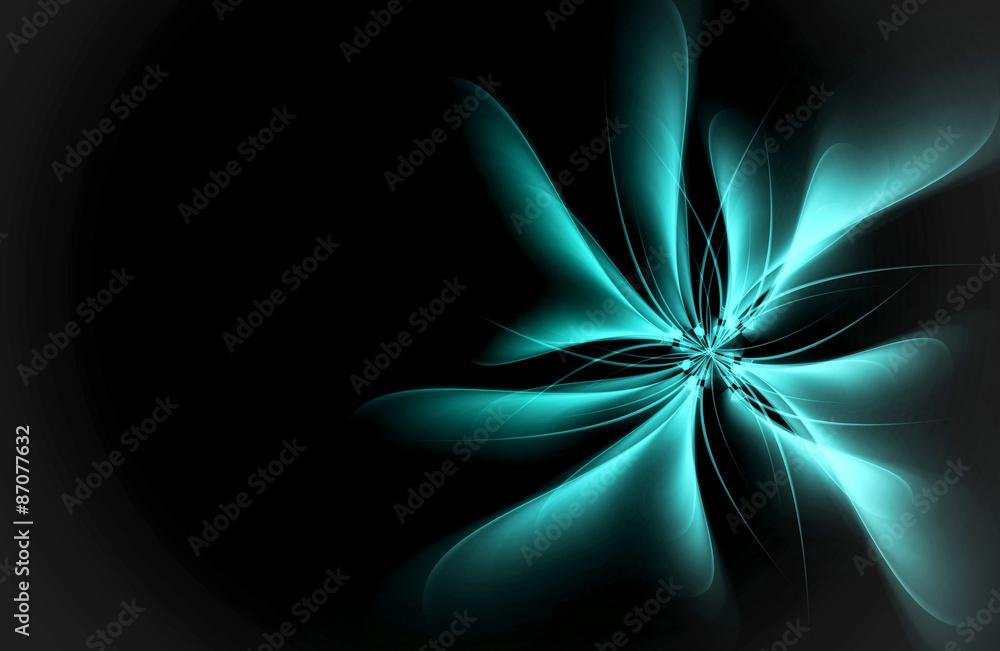 Creative Flower Fractal Art Abstract Design